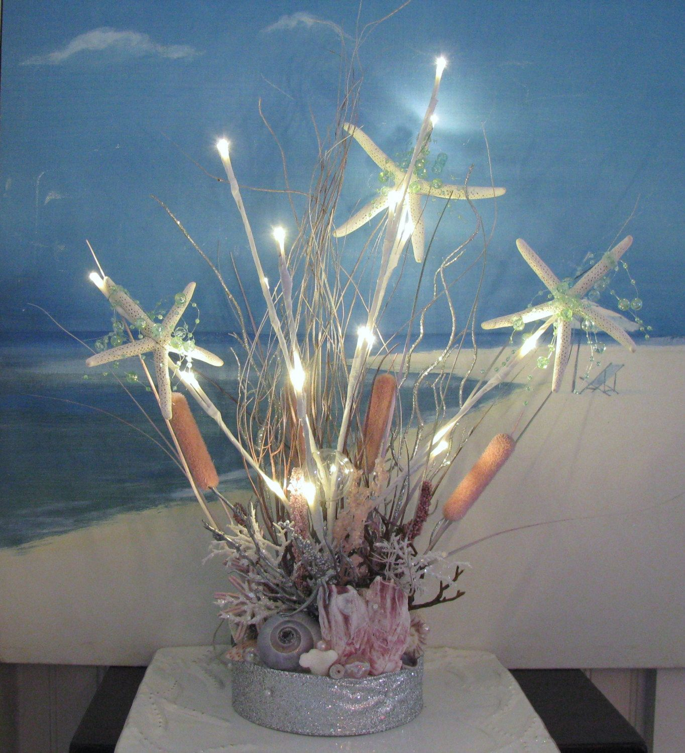 For Trish Beautiful Beach Wedding Centerpiece Decoration With Led Lights