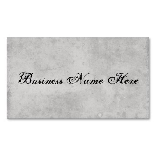Blank Gray Vintage Dark Aged Stained Paper Business Card Templates ...