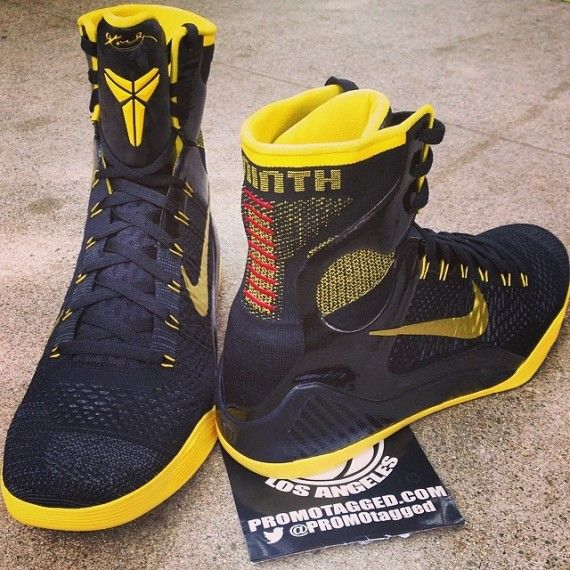 best authentic c3fac 27d69 nike kobe 9 black yellow pe 1 570x570 Nike Kobe 9 Elite Black Yellow PE