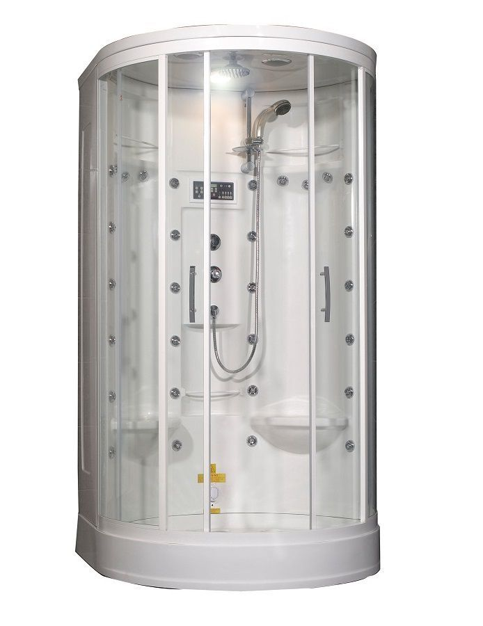 49 Inch x 45 Inch x 87 Inch Steam Shower Enclosure Kit with 30 Body ...