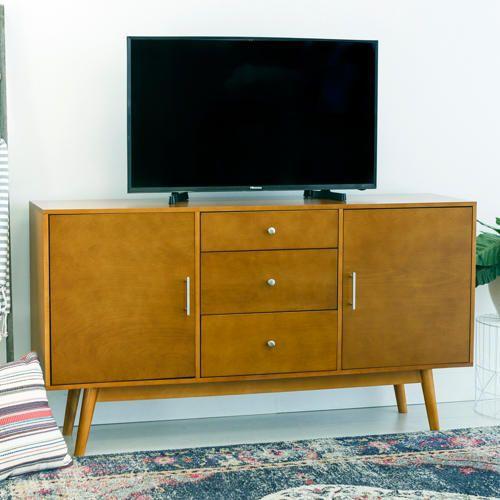 Ana 60 Acorn Tv Stand Art Van Furniture Mid Century Style