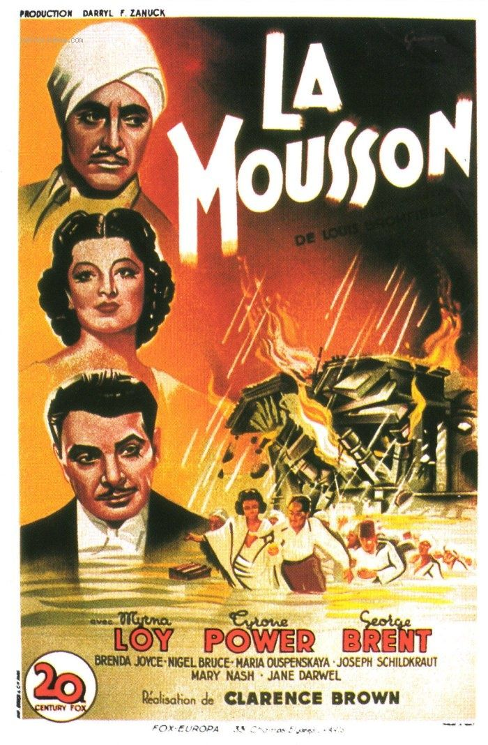 La Mousson Le Film La Mousson The Rains Came Tyrone Power