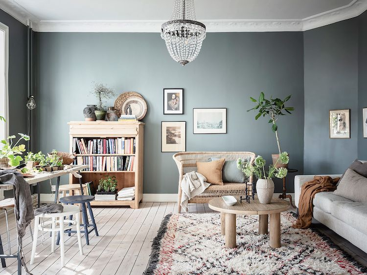 10 Perfect Scandinavian Blue Paint Colors For Your Home Coco Kelley In 2020 Dining Room Paint Colors Dining Room Colors Dining Room Blue