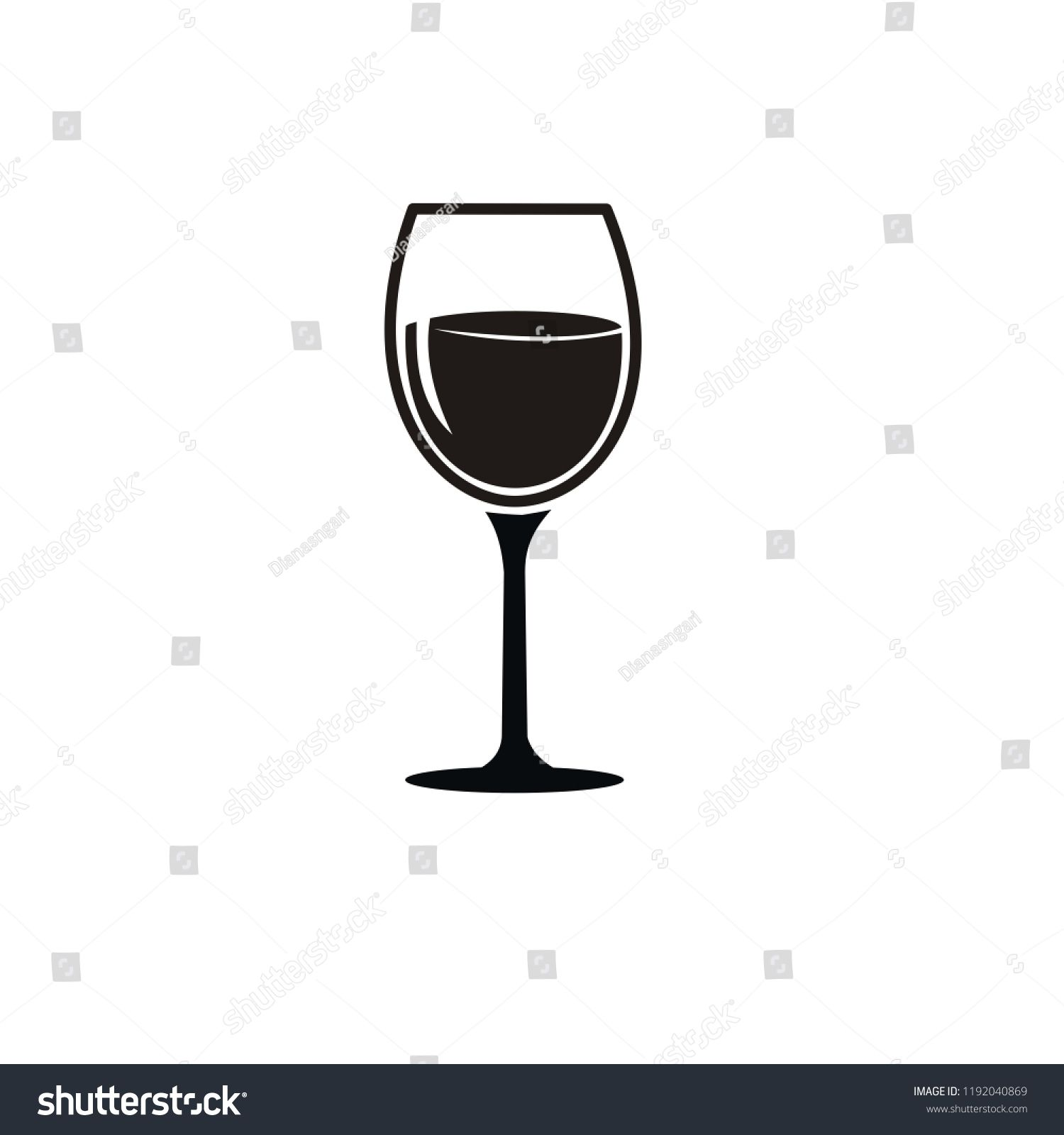 Wine Glass Icon Vector Illustration Glass Wine Icon Illustration