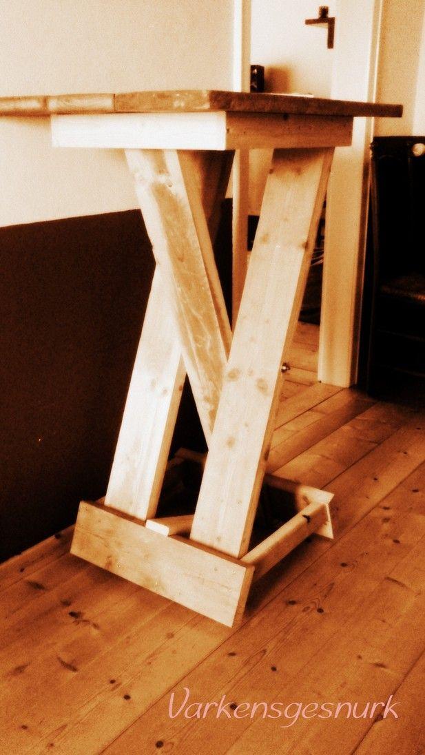 diy statafel stehtisch Stehtisch Pinterest Stehtischen - hollywoodschaukel selber bauen aus paletten