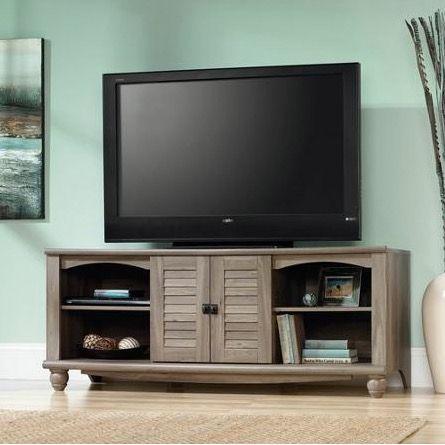 62 Inch Salt Oak Tv Stand Entertainment Center Home Decor