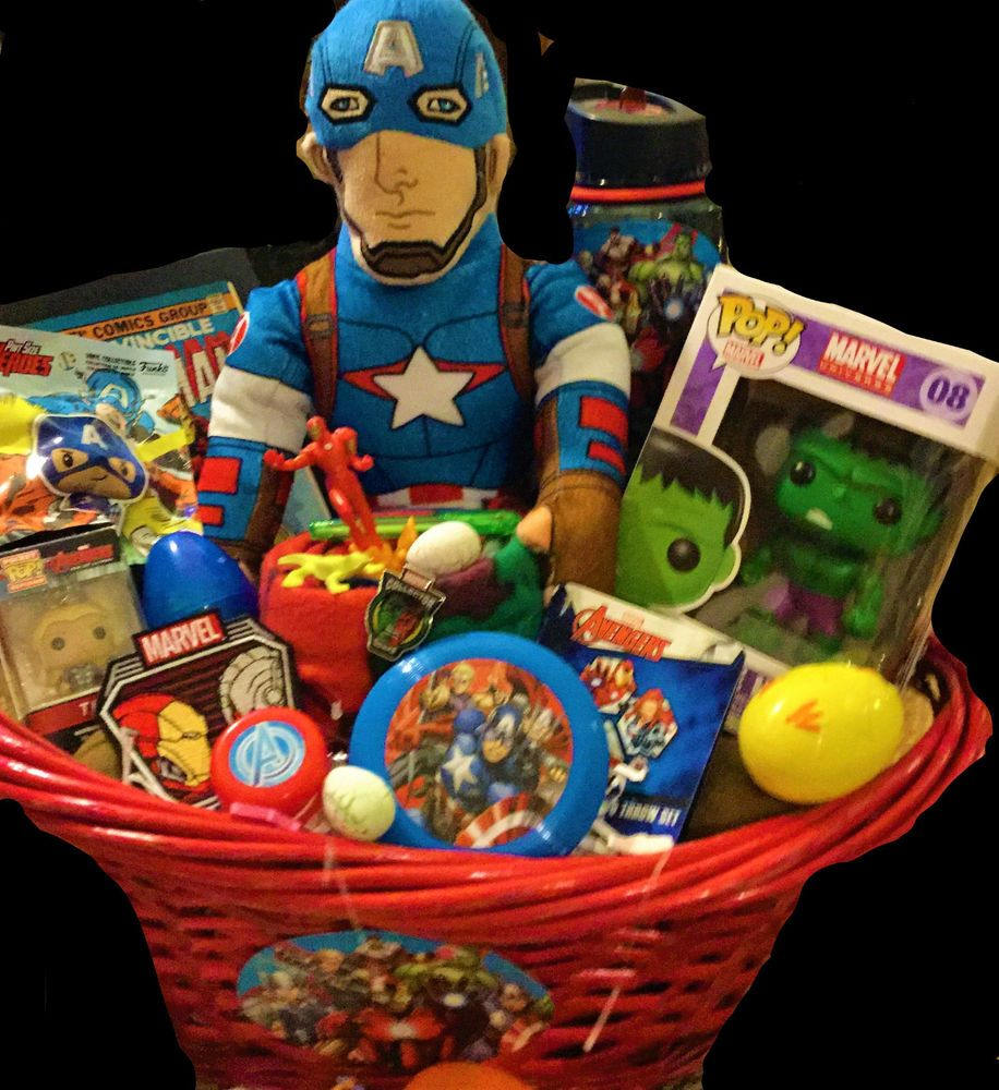 nice Captain America Easter Basket Part - 9: Marvel Funko POP HULK Captain America THE Avengers Easter Gift basket toy  Set