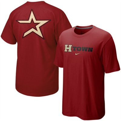 buy online 51230 7a392 Nike Houston Astros Brick Red Local T-shirt | MLB Baseball ...