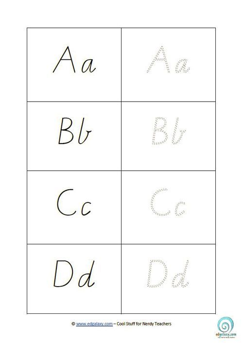 Free Cursive Letters Template to download and print ...