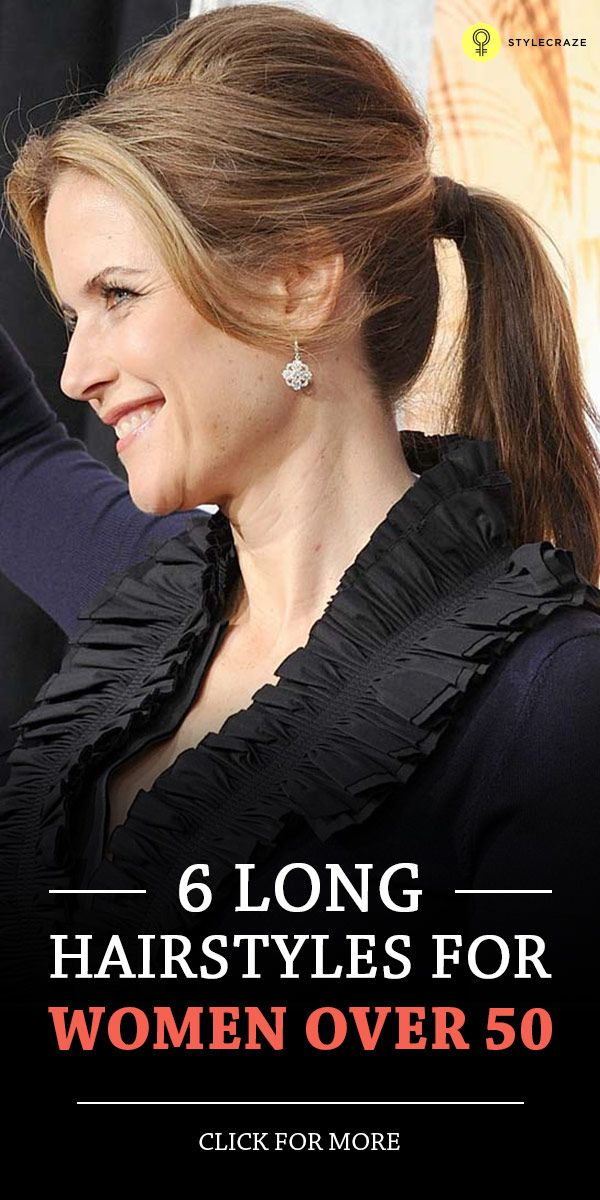 6 Long Hairstyles For Women Over 50 Pinterest Long Hairstyle