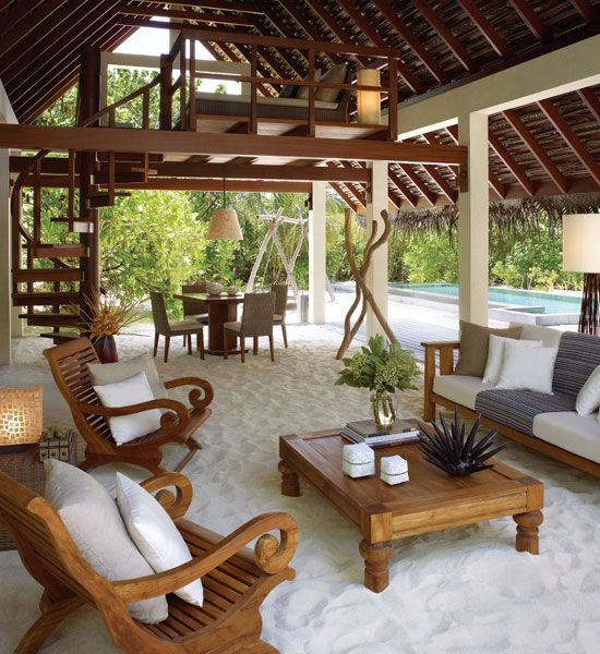 Nos encantan los muebles de maderas tropicales un acierto - Muebles de playa ...