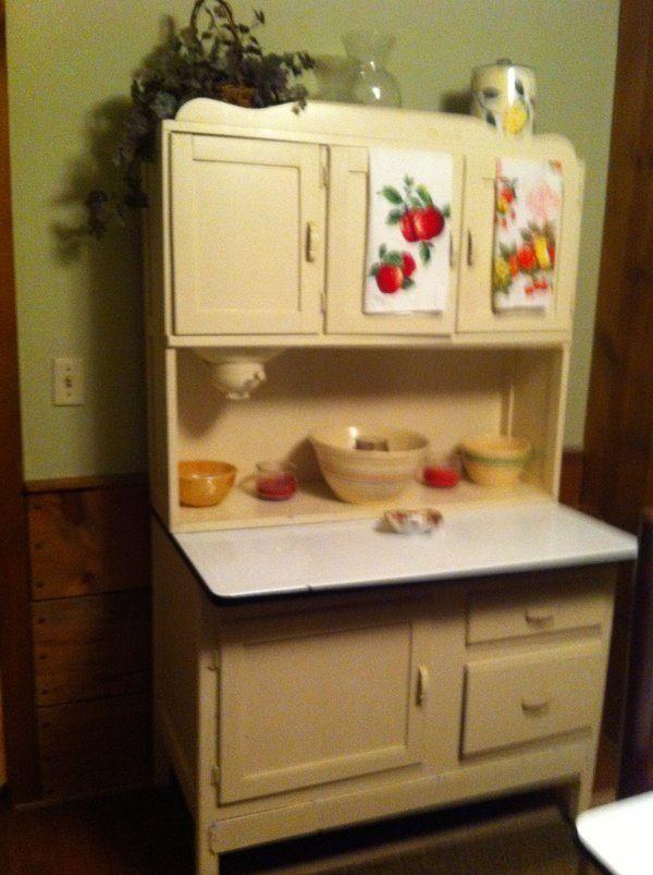 Apple Decor Primitive Vintage Hoosier Cabinets Vintage Kitchen