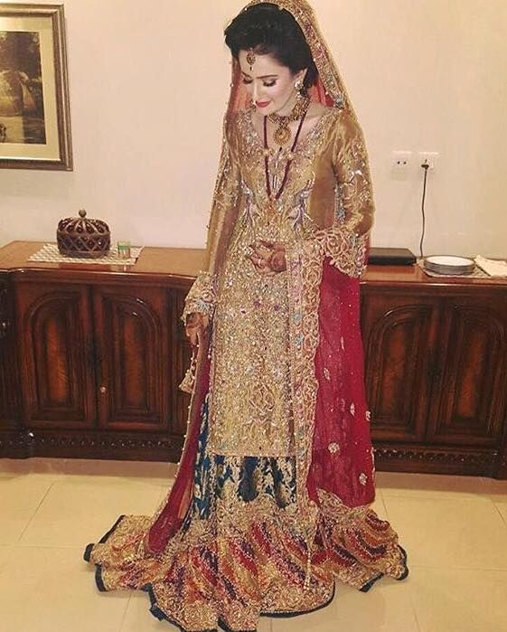 Wedding Hijab Pakistani Dresses Bridal Wear Couture Hairs Outfits Bells