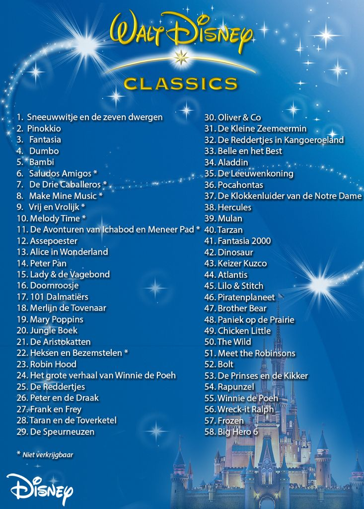 Disney Classics Liste