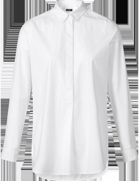 Purdey witte lange blouse