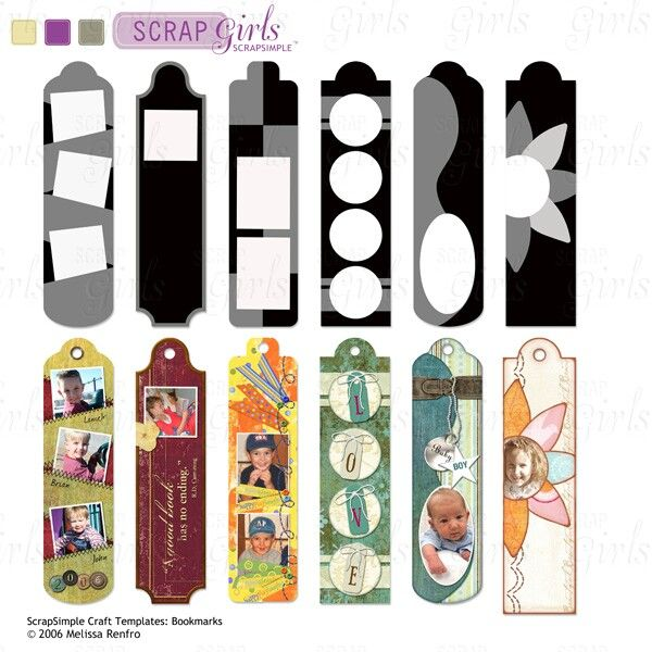 sample book mark ScrapSimple Craft Templates: Bookmarks | My ScrapSimple Collections ...