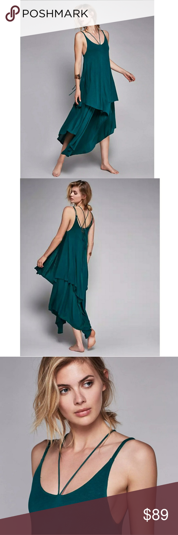 Nwt keep the tempo maxi dress nwt emerald color dark teal and