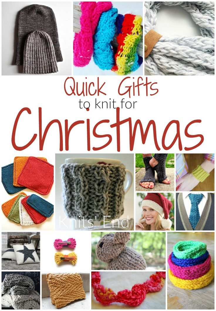 Easy Knitting Ideas For Christmas : Quick and easy knitting projects for homemade christmas
