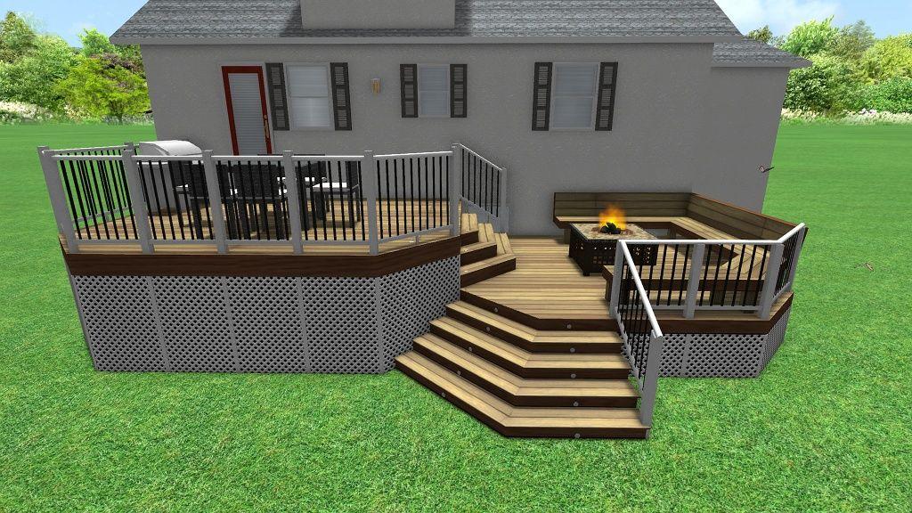3d deck design | Deck design, Deck, Deck builders