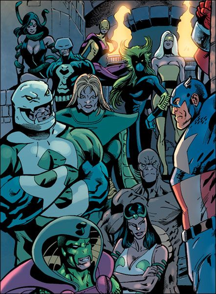 The Serpent Society, Captain America bound, chained | Marvel ...
