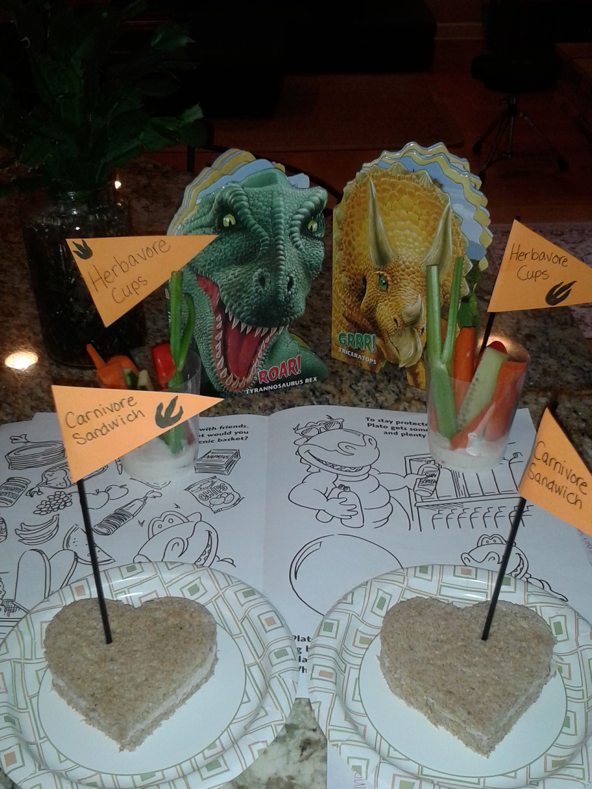 Activities for Dino Day include carnivore sandwiches (just turkey ...