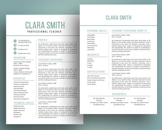 Elegant  In  Teacher Resume Template For Ms Powerpoint  Jobs