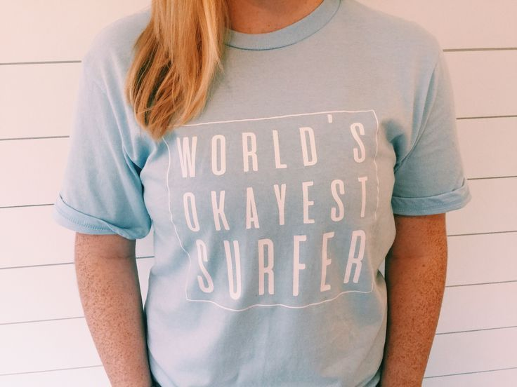 a3eac501 Women's Beach Vacation Shift, World's Okayest Surfer Shirt, Beach Vacation  Outfit, Women's Beach Outfit, Women's Beach T-Shirt, Beach Vacation Outfit  Ideas, ...