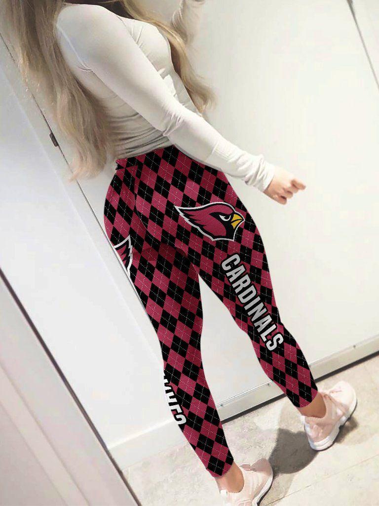 Womens High Waist Colorful Brown Checkerboard British Plaid Sweatpants Yoga Pants Leggings
