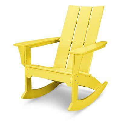 Polywood Modern Plastic Rocking Adirondack Chair Plastic