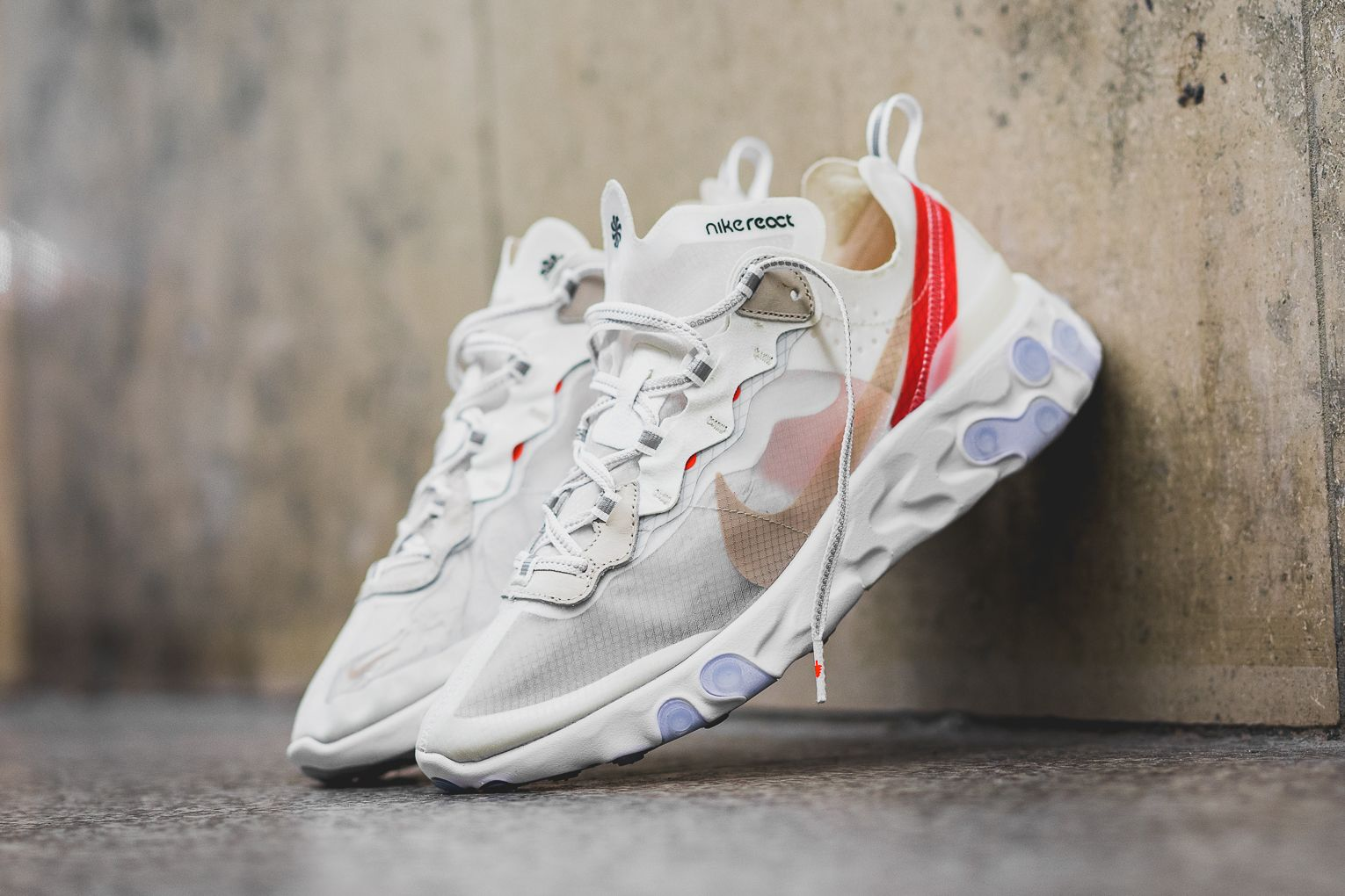 brand new 2832e 61020 Nike React Element 87  Sail Light Bone  - Where to buy online