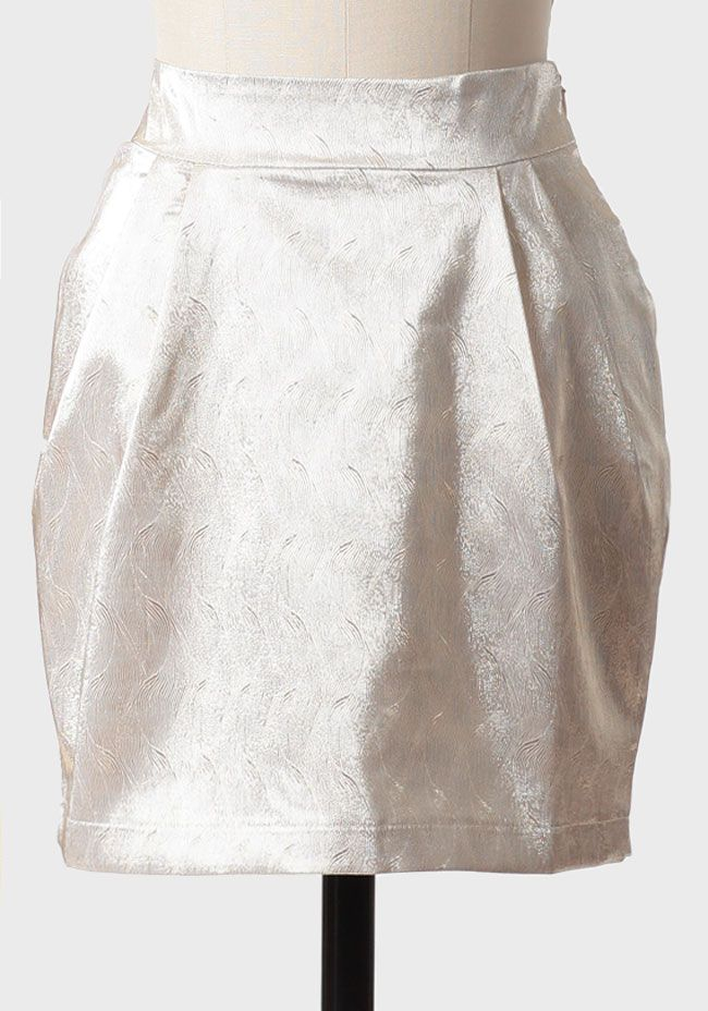 Golden Skylight Metallic Skirt 38.99 at shopruche.com. Beautifully