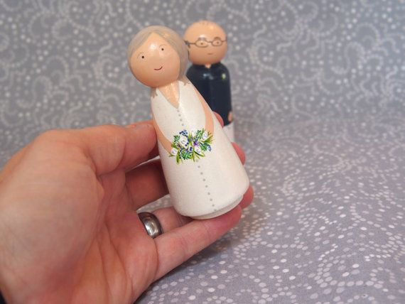 Wedding bells are ringing! Make your cake truly unique with a custom cake topper of the bride and groom. These cake toppers measure 3.5 inches tall
