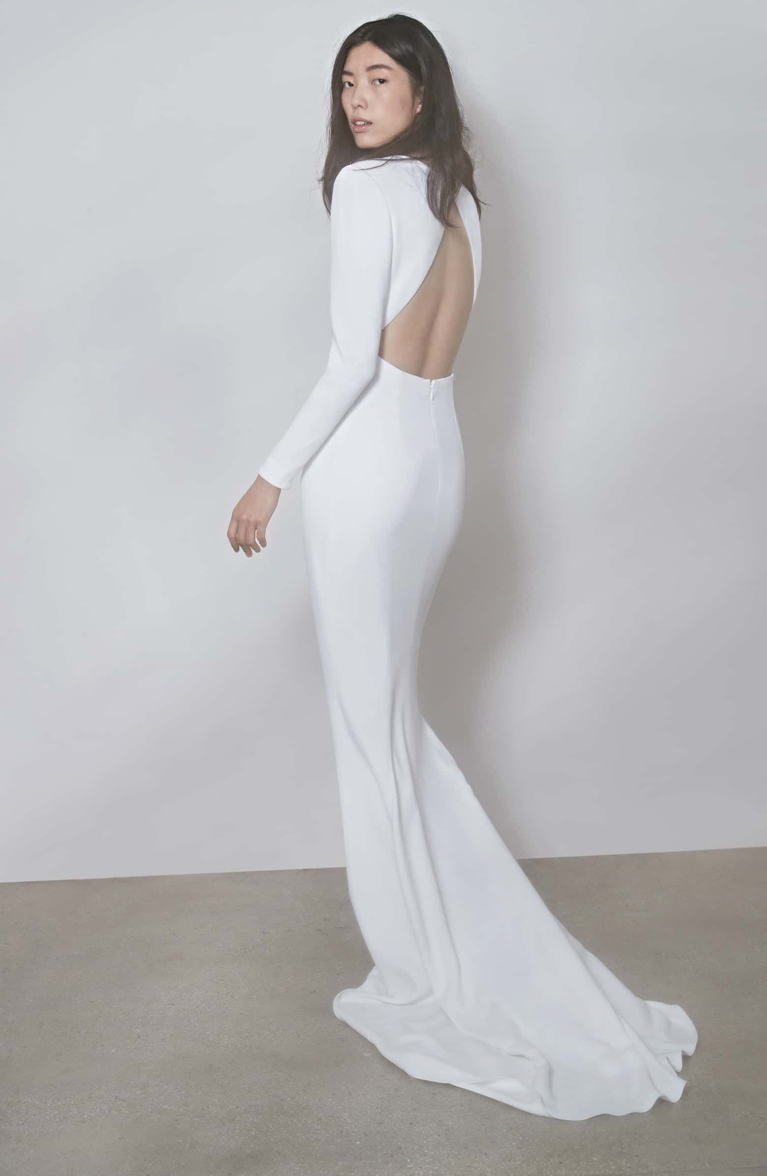 12e111f2033 F18 Ruby Long Sleeve Cutout Wedding Dress