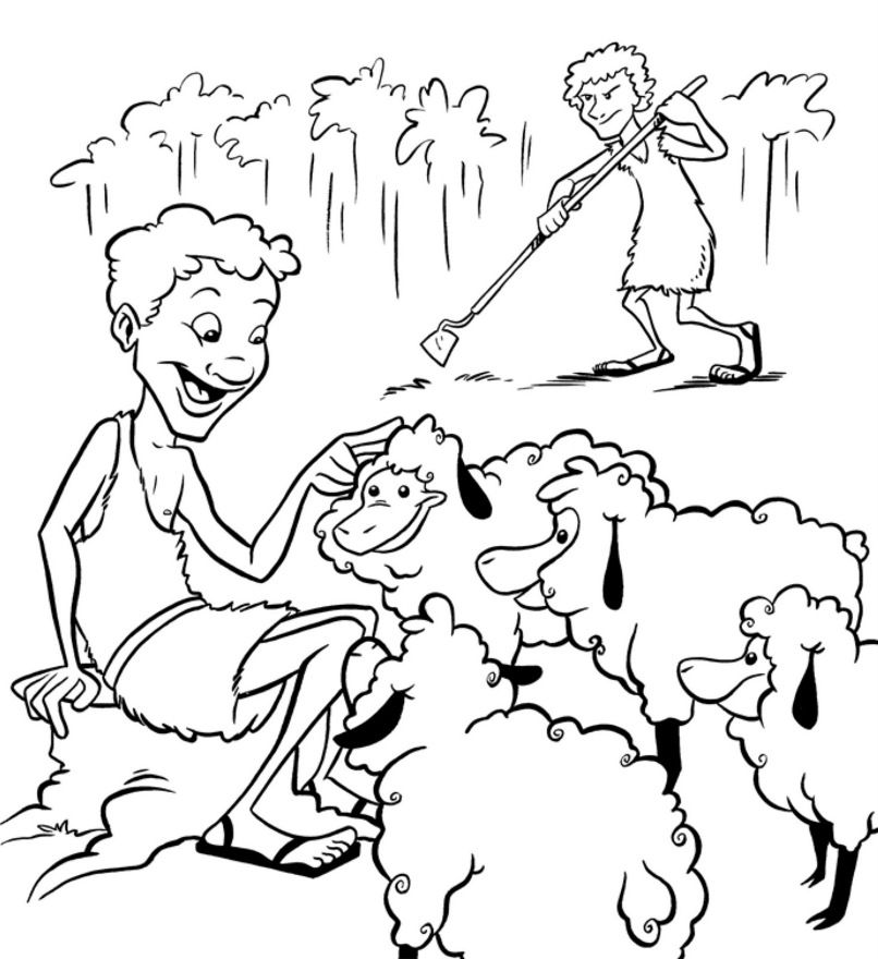 cain-and-abel-coloring-pages- | Caín y Abel | Pinterest | Escuela ...