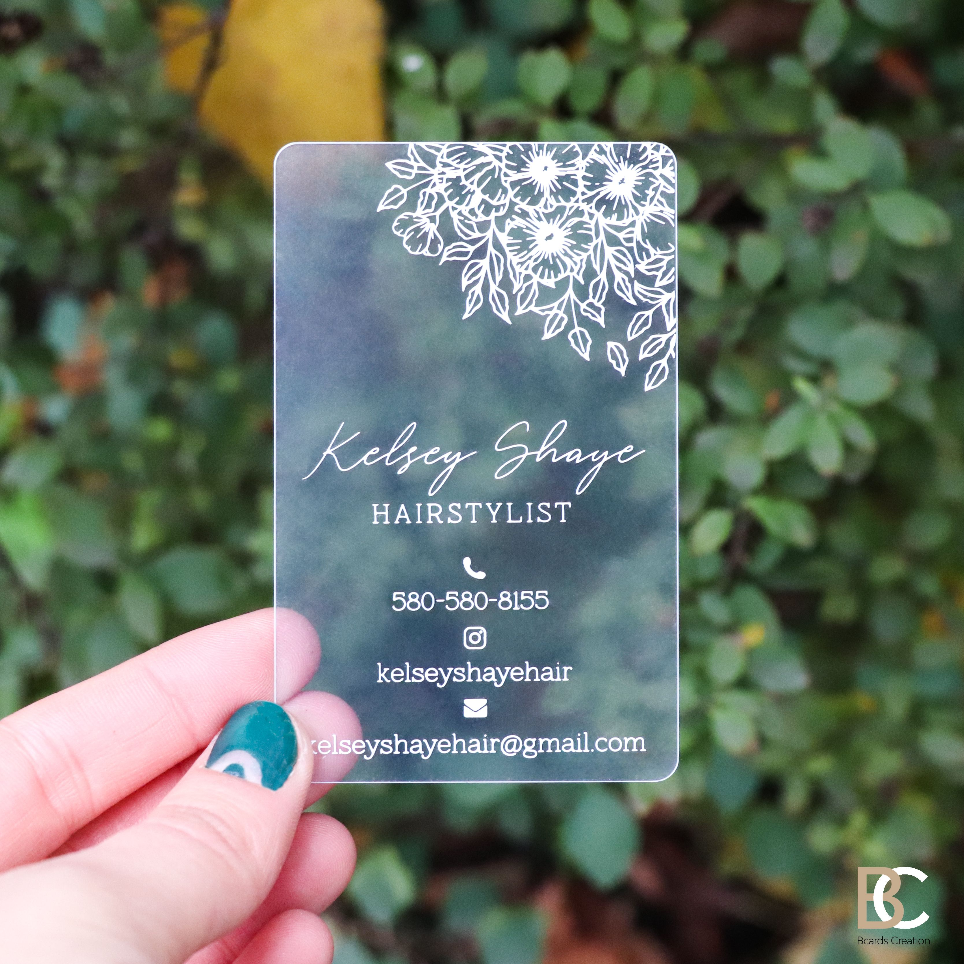 Holographic Foil Business Card Neon Rainbow Clear Etsy Foil Business Cards Plastic Business Cards Clear Business Cards