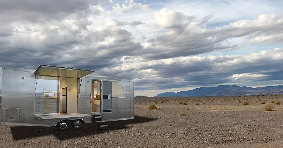 Shiny aluminum camper is built to go off-grid | Pinterest | Airstream