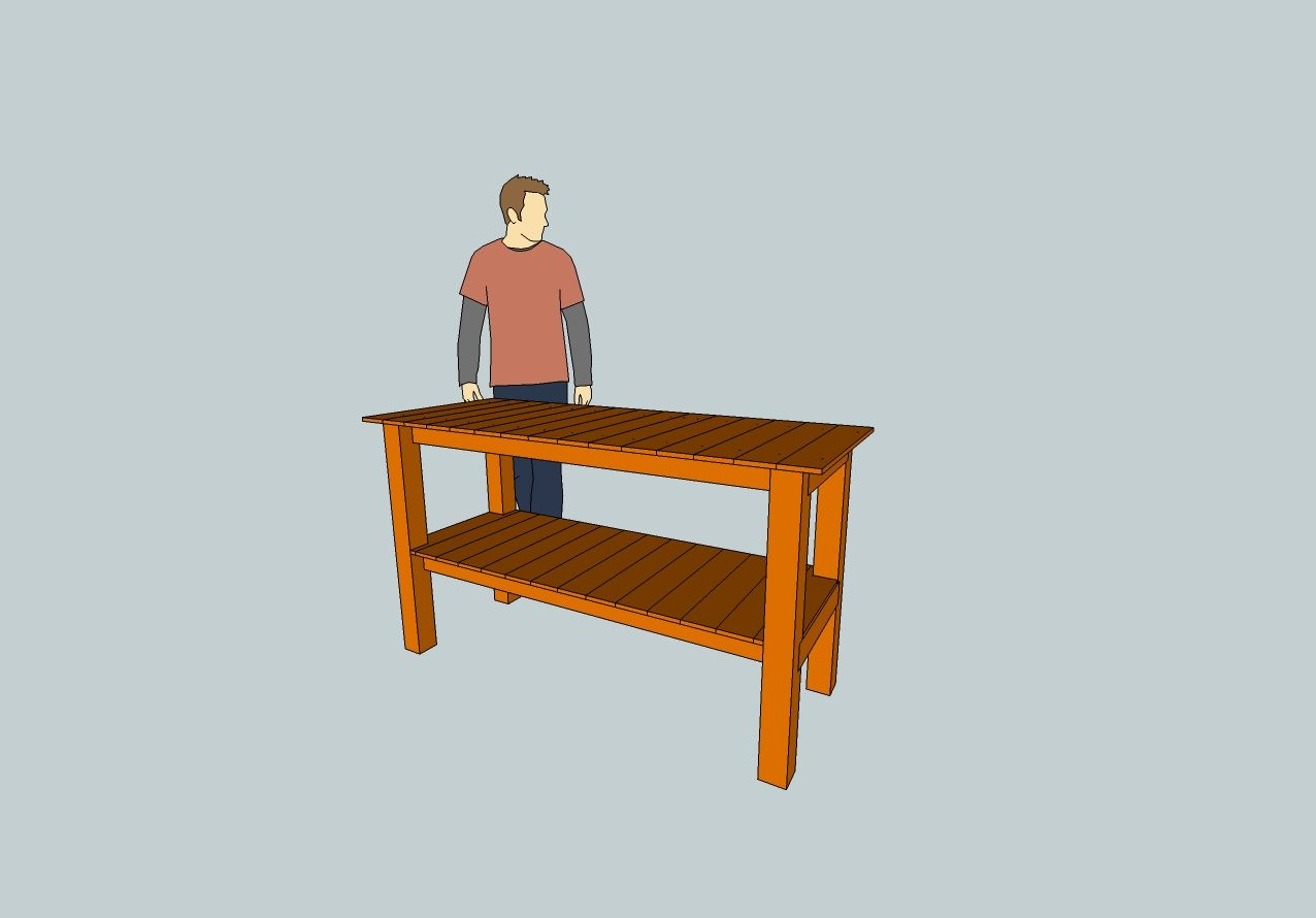 Redwood Table My BBQ Table Design: Redwood, 2x4,4x4, fence boards ...