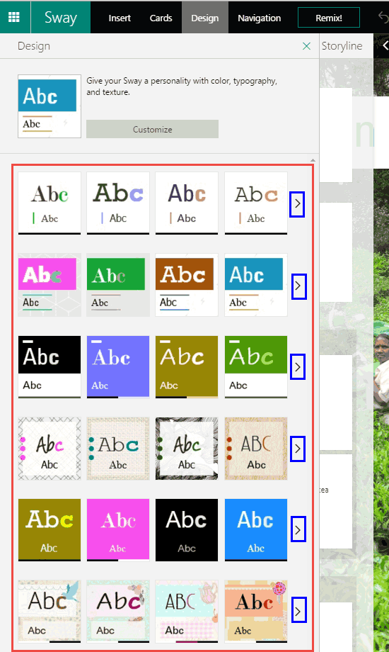 Design Styles in #Sway