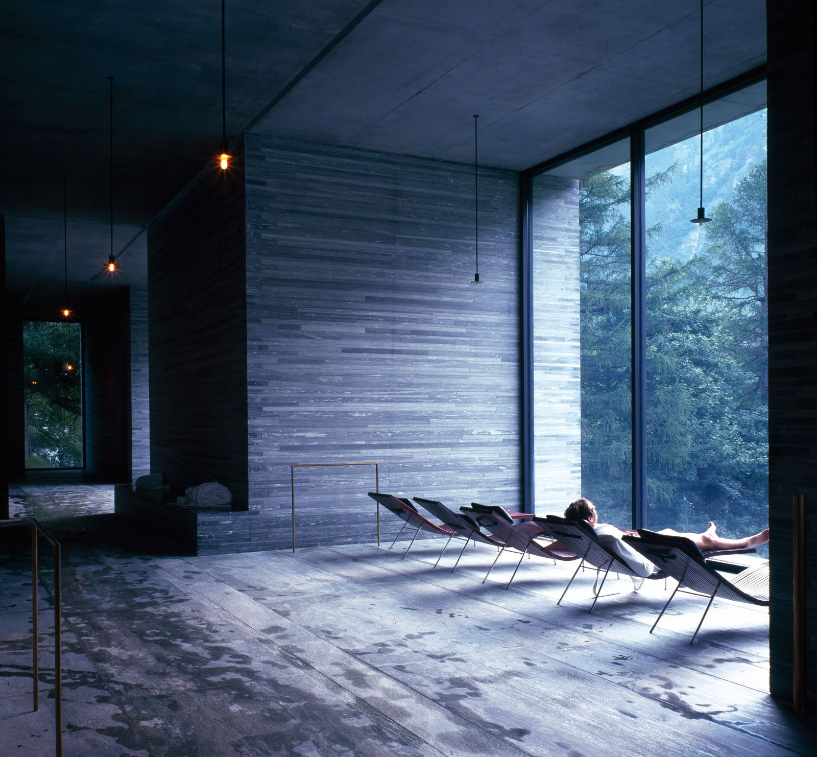 Thermes vals solarium interieur places i like for Thermes spa