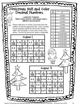 NO PREP Christmas Math Games for Fourth Grade with Gifts ...