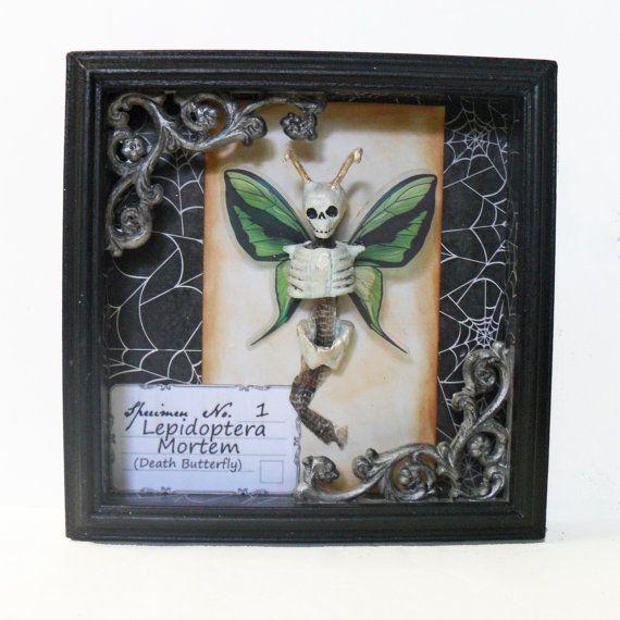Gothic Wall Art - Skeleton Butterfly - Dark Art