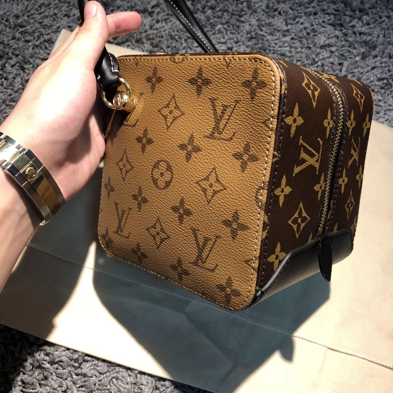 27cfd54959aa Louis Vuitton Monogram Reverse Canvas Square Bag M43589  louis  vuitton   square  M43589  louis vuitton square bag