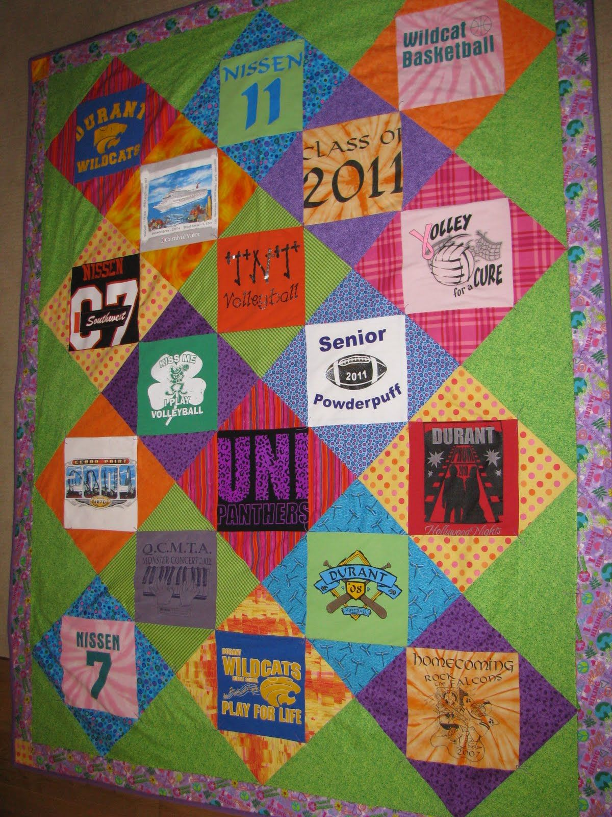 Tshirt quilts keepsakesewing graduation t shirt quilt for How to make t shirt quilts easy