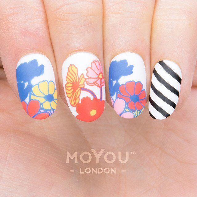f722ef5c67 Flower Power 19 | Stamping nailart 10 | Flower nail art, Nail art ...