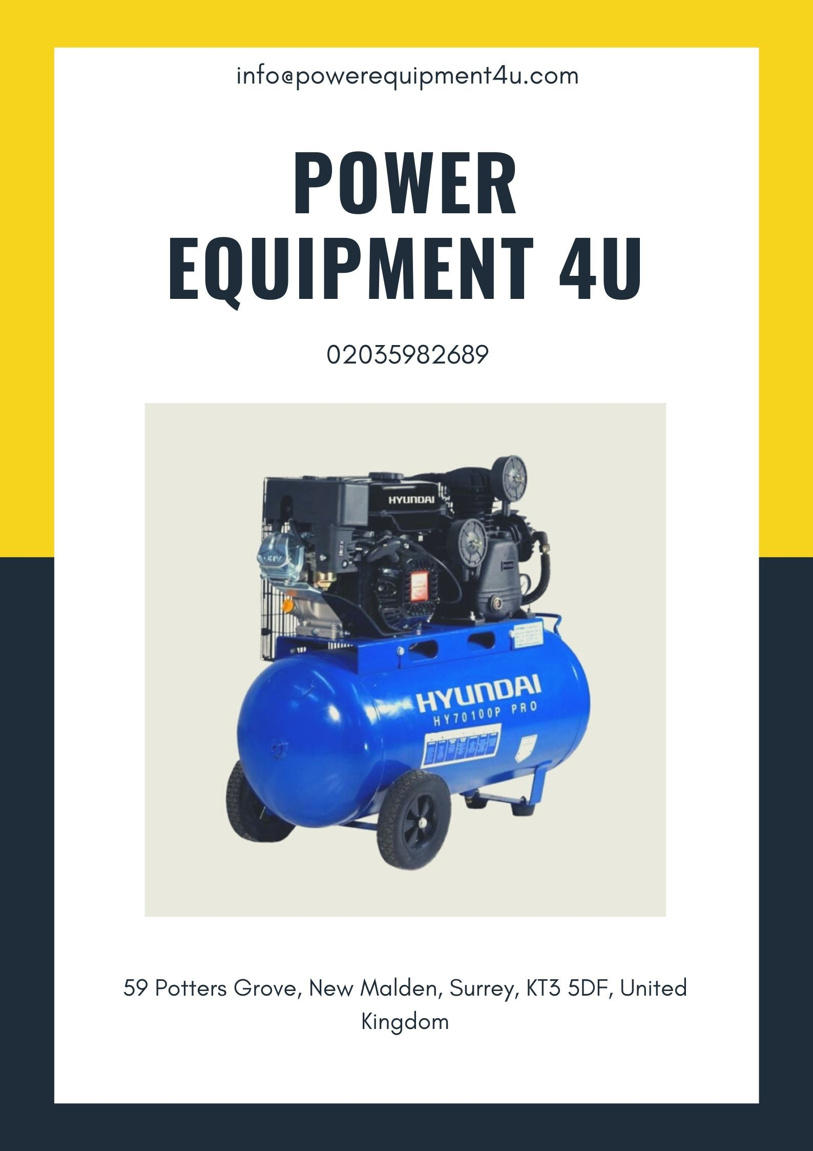 A simple petrol air compressor for sale UK is a mechanical