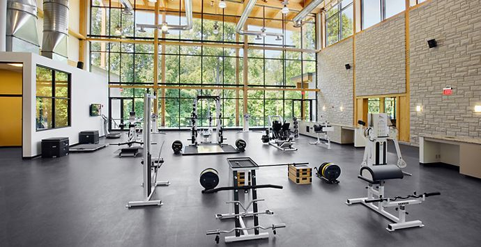 AECOM Cleveland Clinic Courts | Home Gym | Pinterest