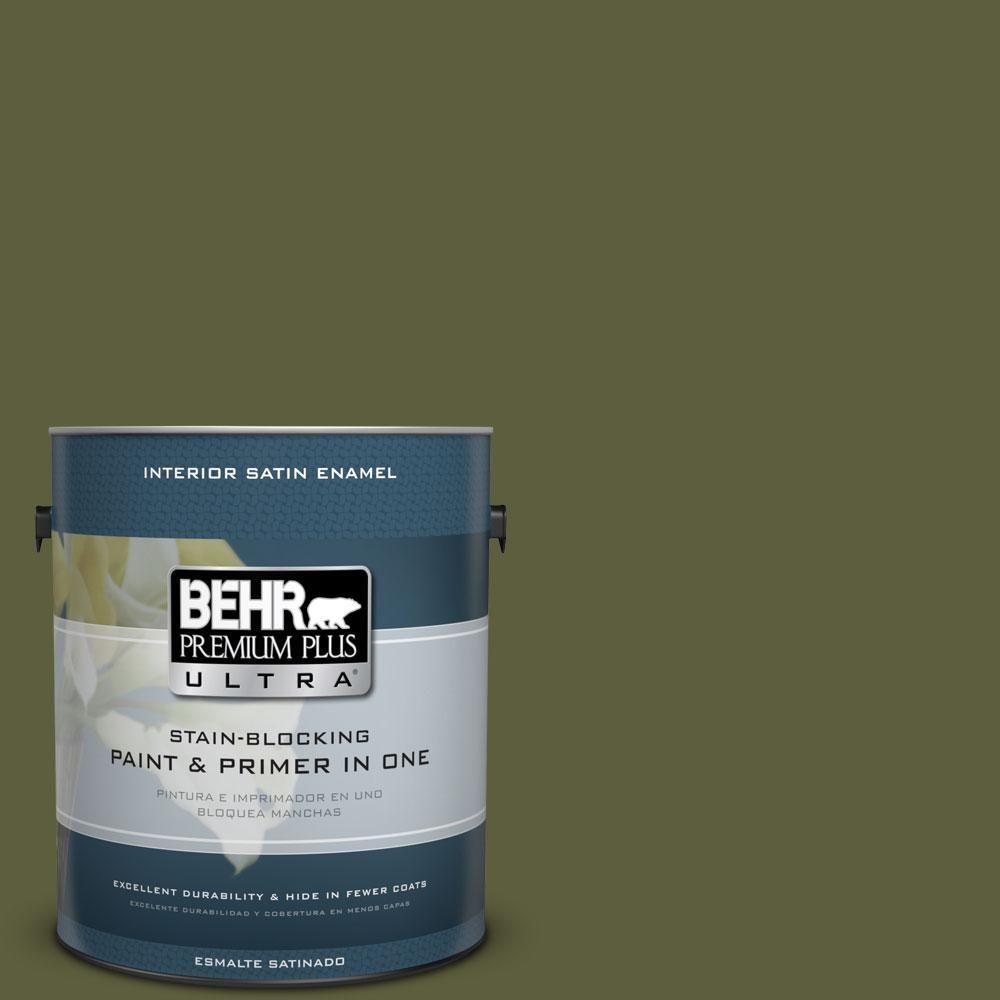 BEHR Premium Plus Ultra 1-Gal. #PPU9-25 Eastern Bamboo Satin Enamel Interior Paint