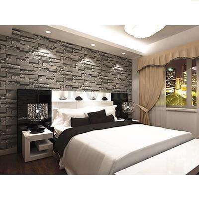 3d 10m Wallpaper Bedroom Mural Roll Modern Stone Brick Wall Background Textured Remodelación De Dormitorio Diseño De Dormitorio Para Hombres Dormitorio De Diseño Moderno
