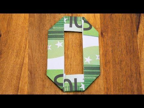 zahl 0 falten mit euroscheinen geldgeschenke origami 10. Black Bedroom Furniture Sets. Home Design Ideas