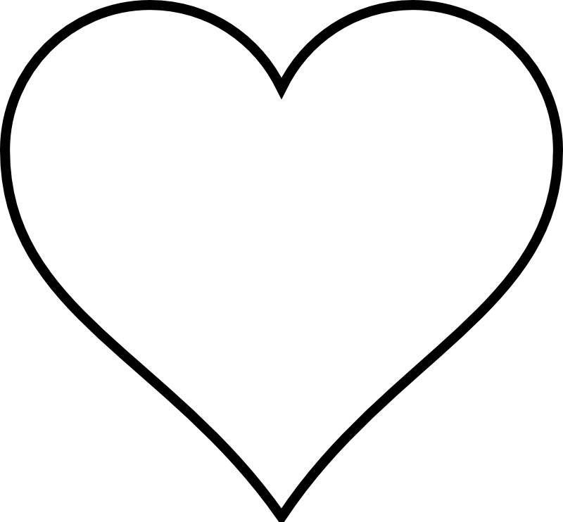 It is an image of Simplicity Heart Outlines Printable